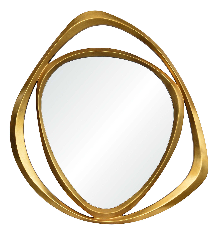 Ren-Wil Goldie Triangle Mirror - Gold Leaf