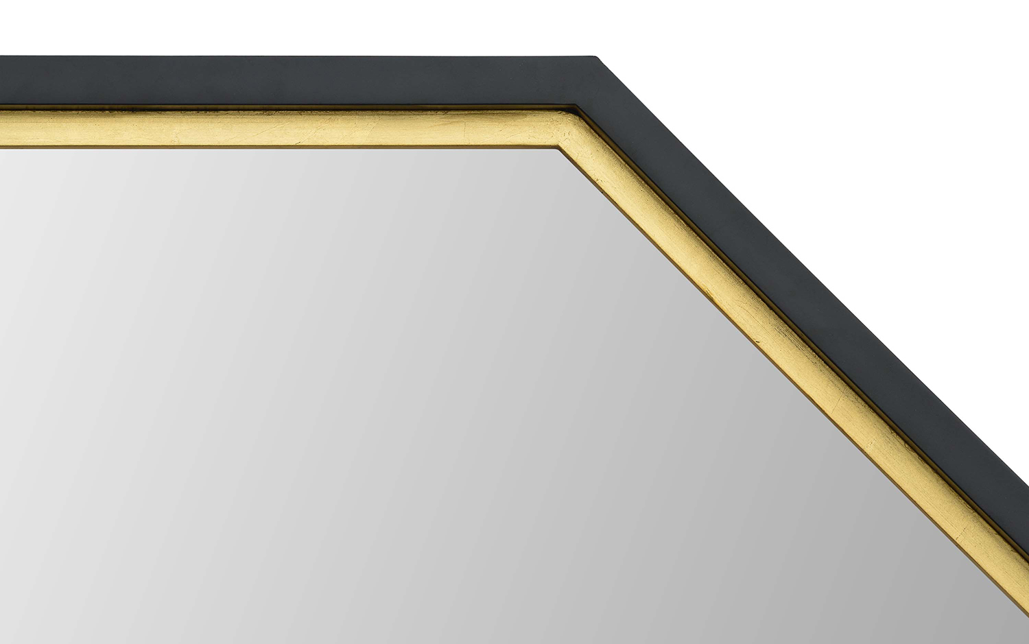 Ren-Wil Octo Octagon Mirror - Black Painted And Gold Leaf