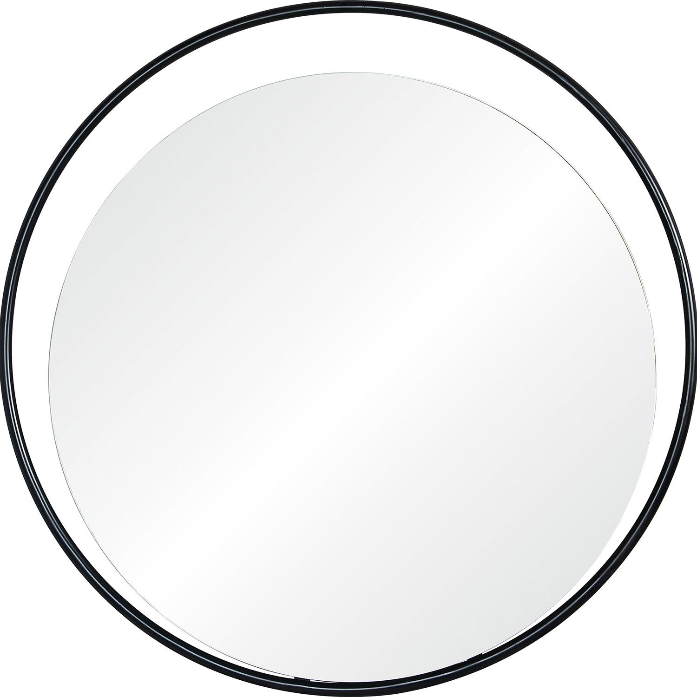 Ren-Wil Rochford Round Mirror - Matte Black