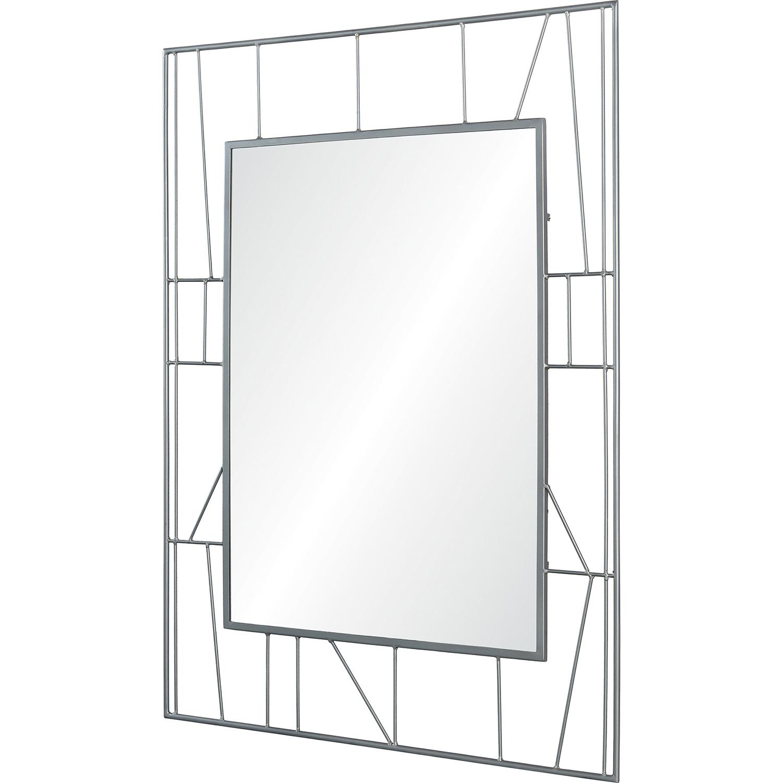 Ren-Wil Radley Rectangle Mirror - Raw Metal