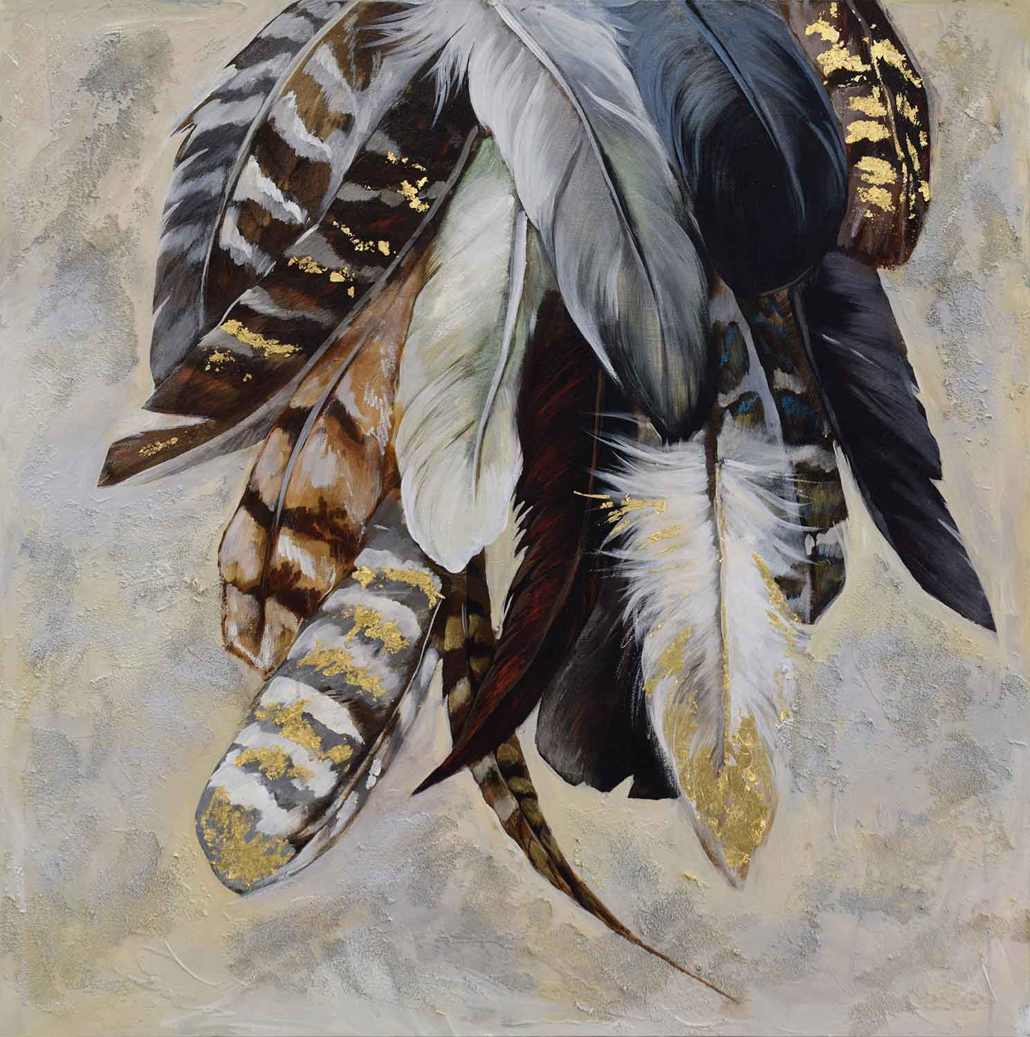 Ren-Wil Feathertail Canvas Painting - Matte