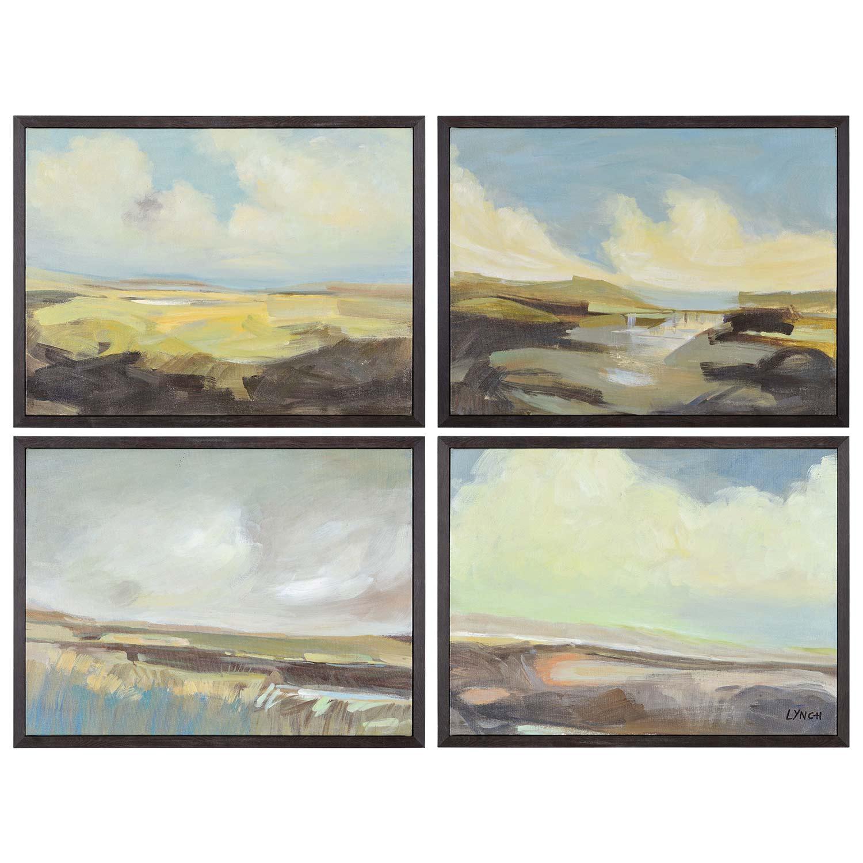 Ren-Wil Argyle Canvas Painting - Matte