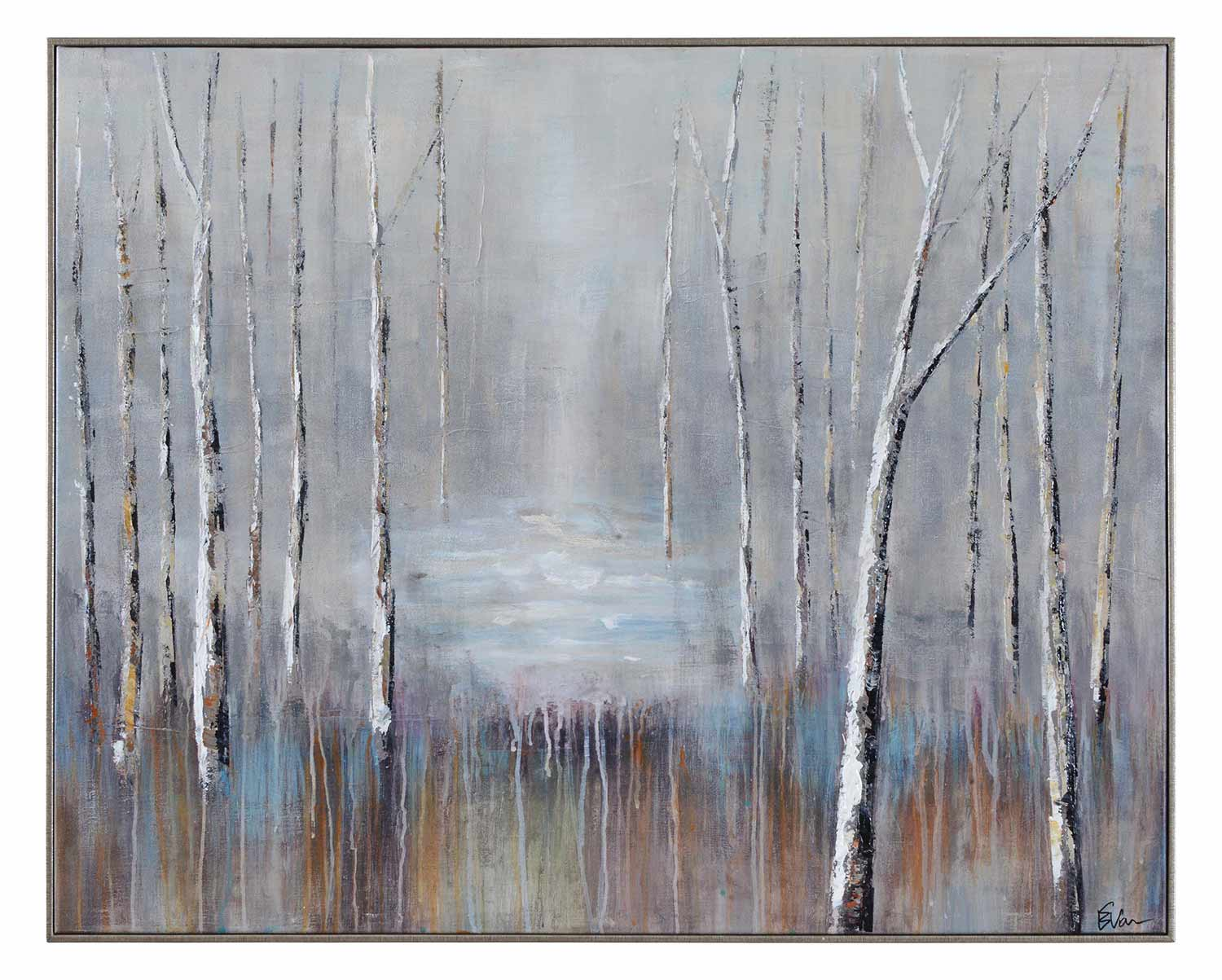 Ren-Wil Ash Canvas Painting - Silver