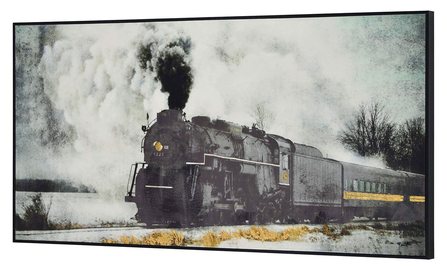 Ren-Wil Fisher Canvas Painting - Black