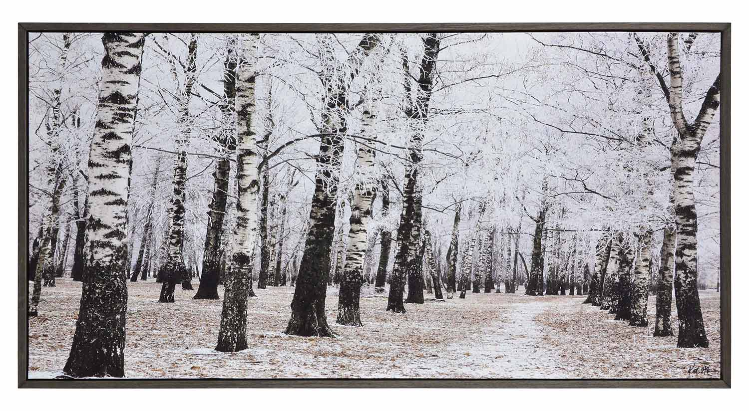 Ren-Wil Woodland Canvas Painting - Charcoal Grey
