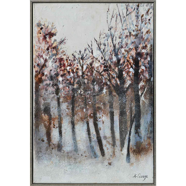 Ren-Wil Adler Canvas Art - Matte/Silver