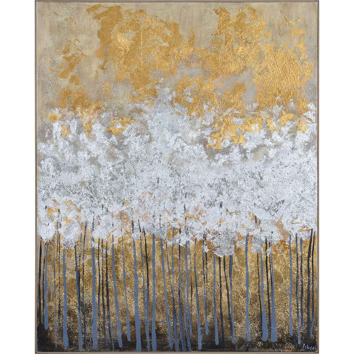 Ren-Wil Magee Canvas Art - Matte/Gold Leaf Accent/Chocolate