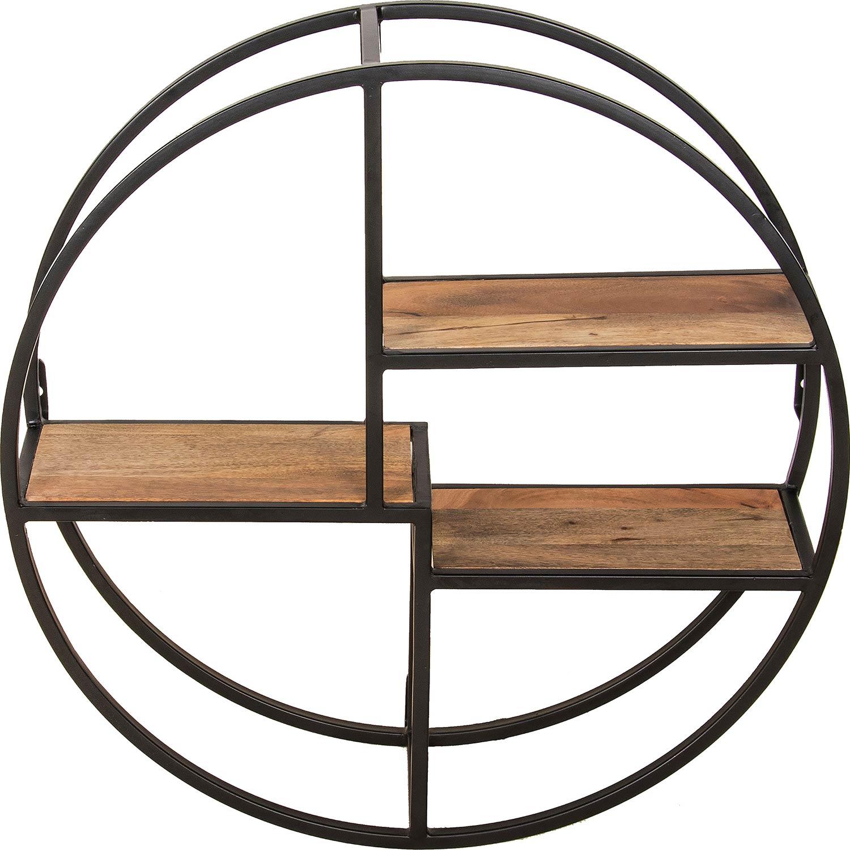 Ren-Wil Palma Shelf - Black/Natural Wood