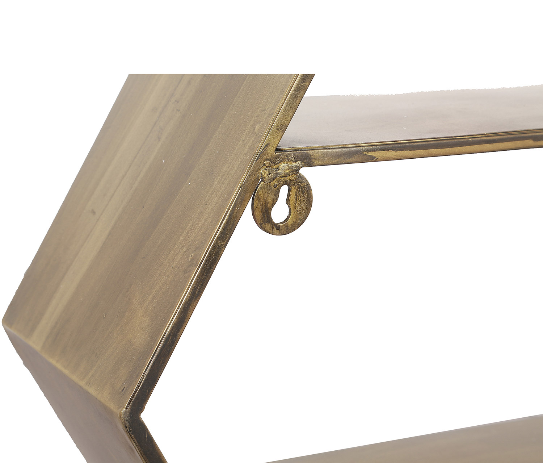 Ren-Wil Falkner Shelf - Antique Brass