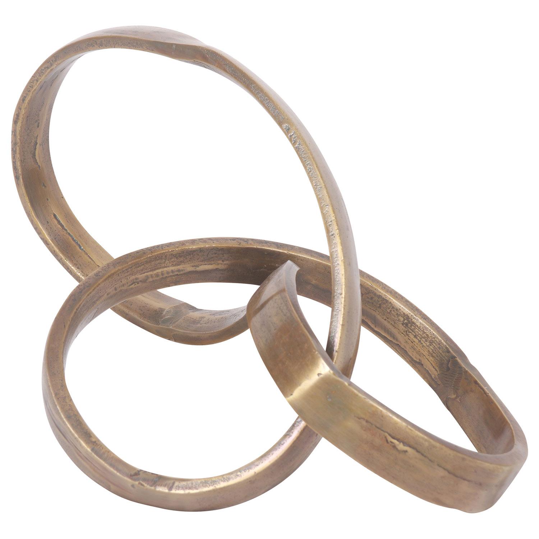 Ren-Wil Ribbon Sculpture - Brass Antique