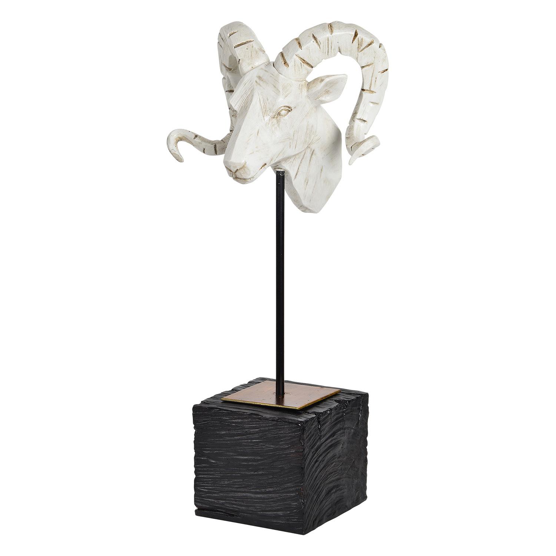 Ren-Wil Capra Statue - Cream