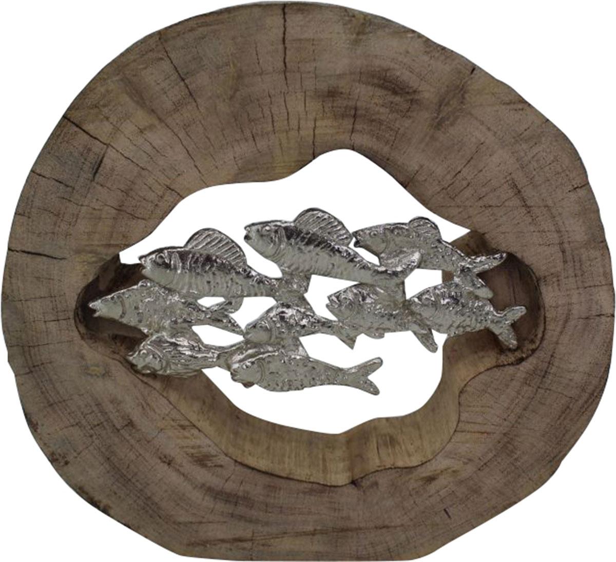Ren-Wil Pesce Sculpture - Silver/Brown