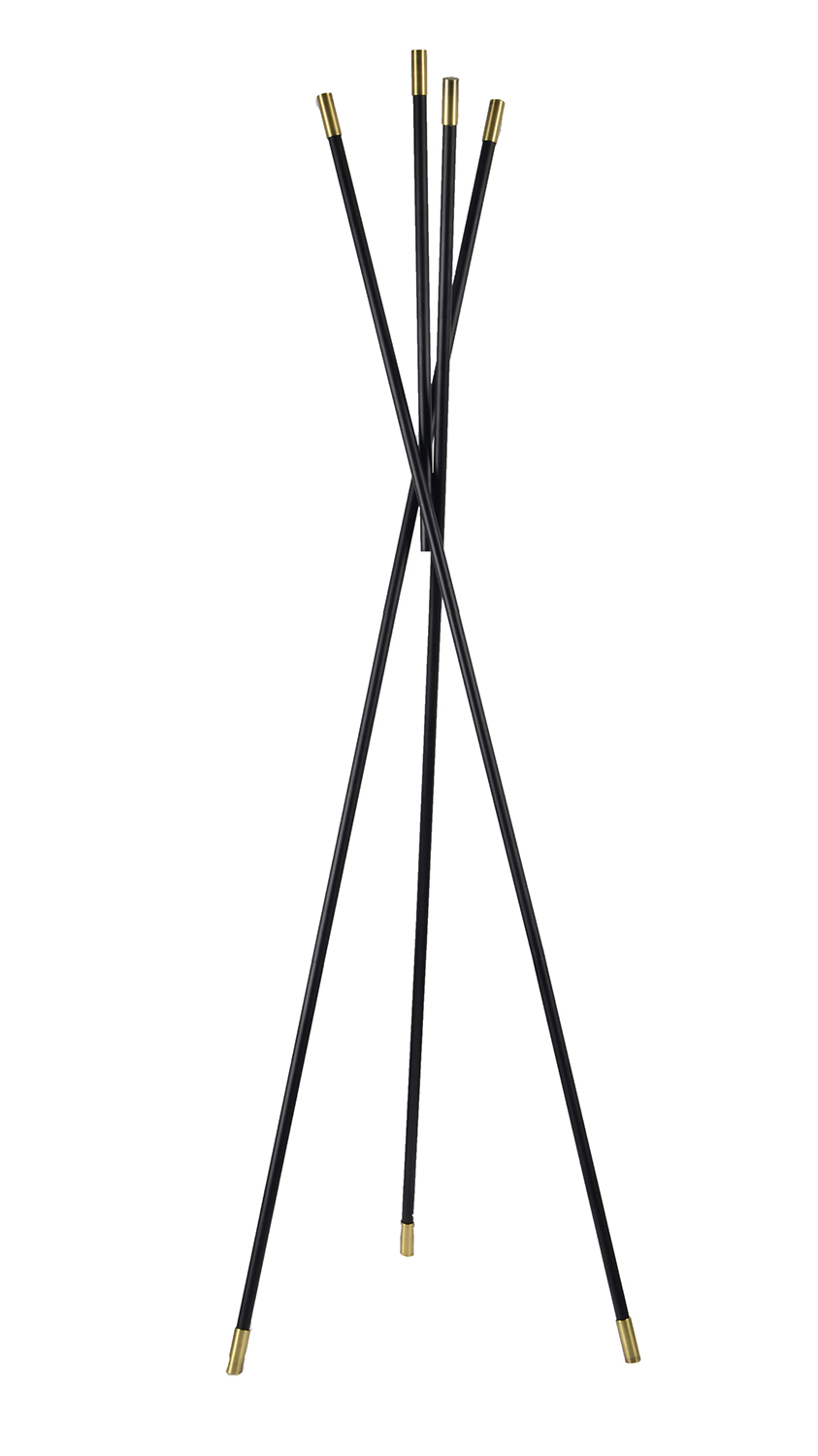 Ren-Wil Menta Coat Rack - Matte Black/Brass