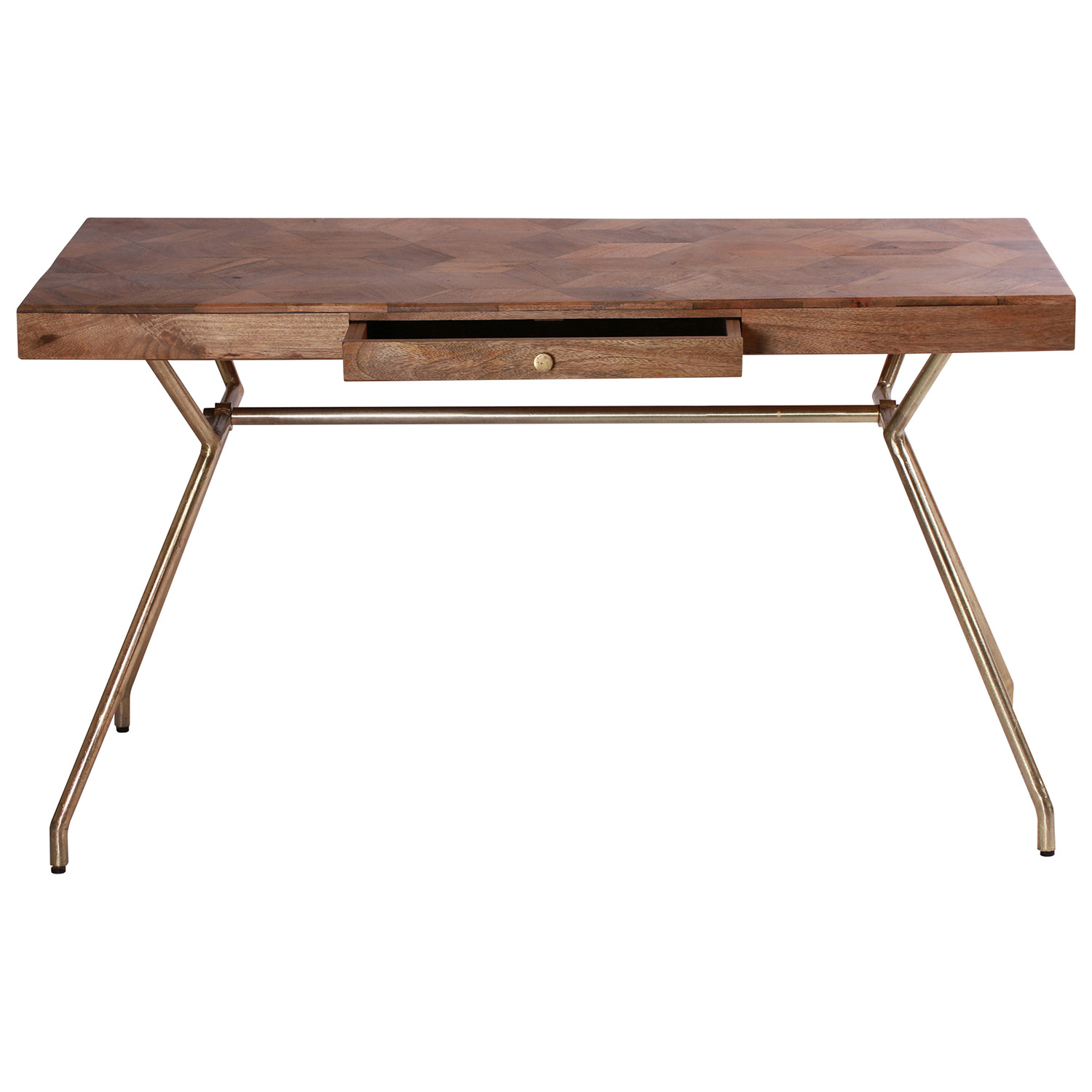 Ren-Wil Adams Accent table - Natural/Brass Plated