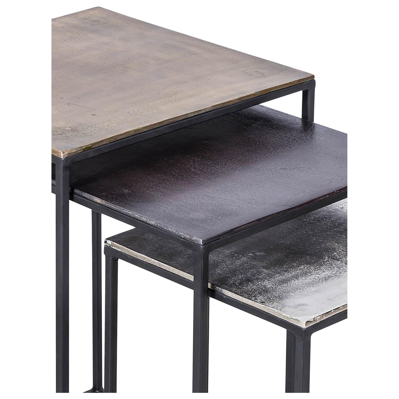 Ren-Wil Threefold Accent table - Bronze/Matt Black