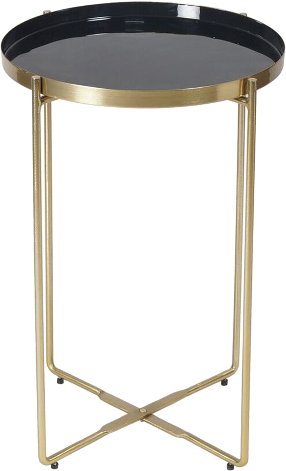 Ren-Wil Aspen Accent Table - Brass/Enamel