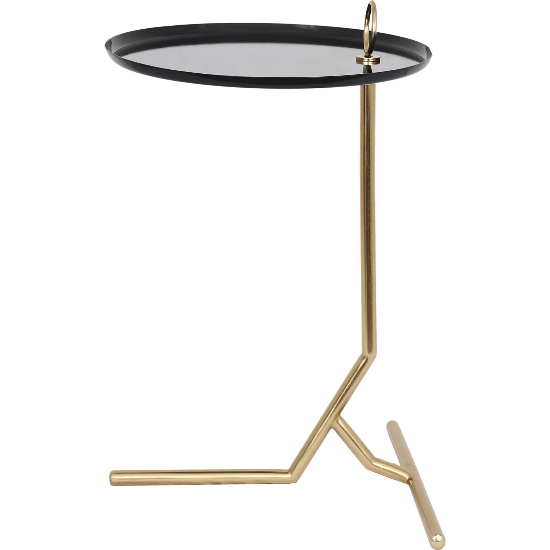 Ren-Wil Nakia Accent Table - Dark Blue/Gold
