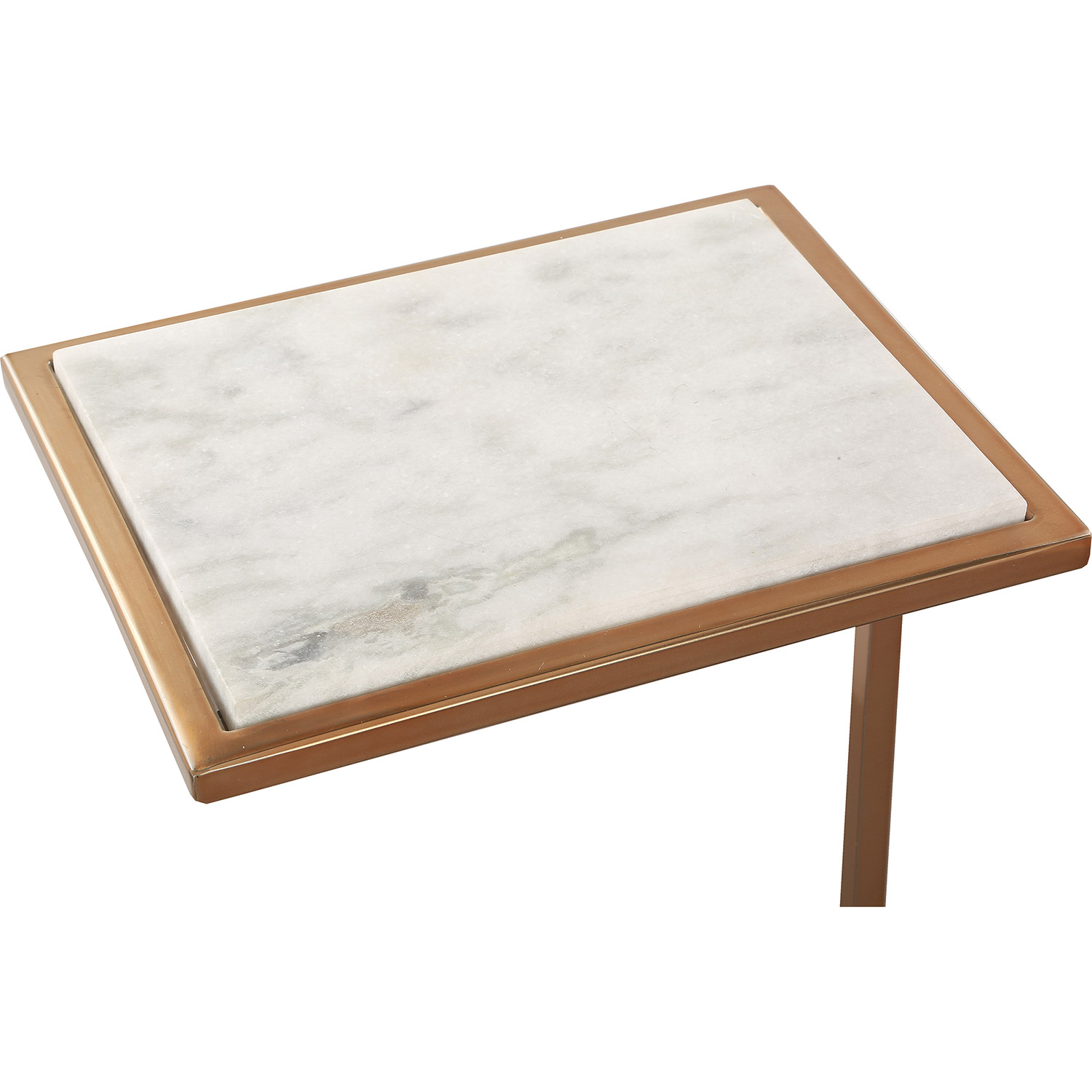 Ren-Wil Delma Accent Table - White Marble/Brass