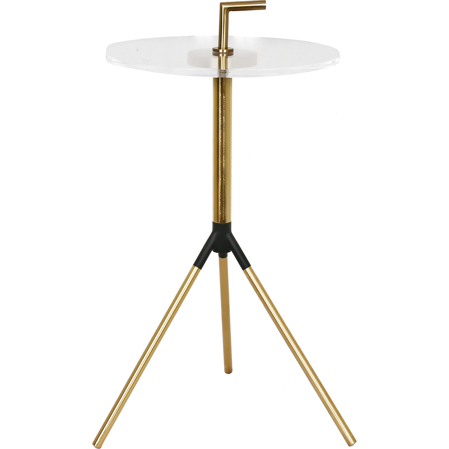 Ren-Wil Tabina Accent Table - Gold/Clear