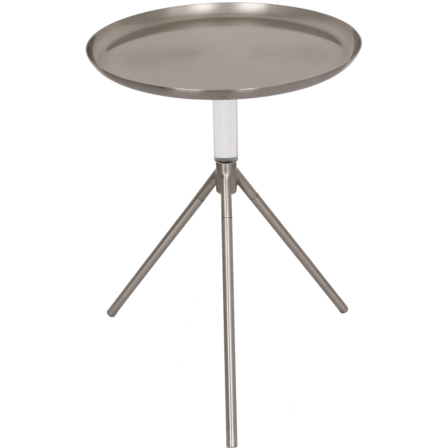 Ren-Wil Pacey Accent Table - Pewter/Clear