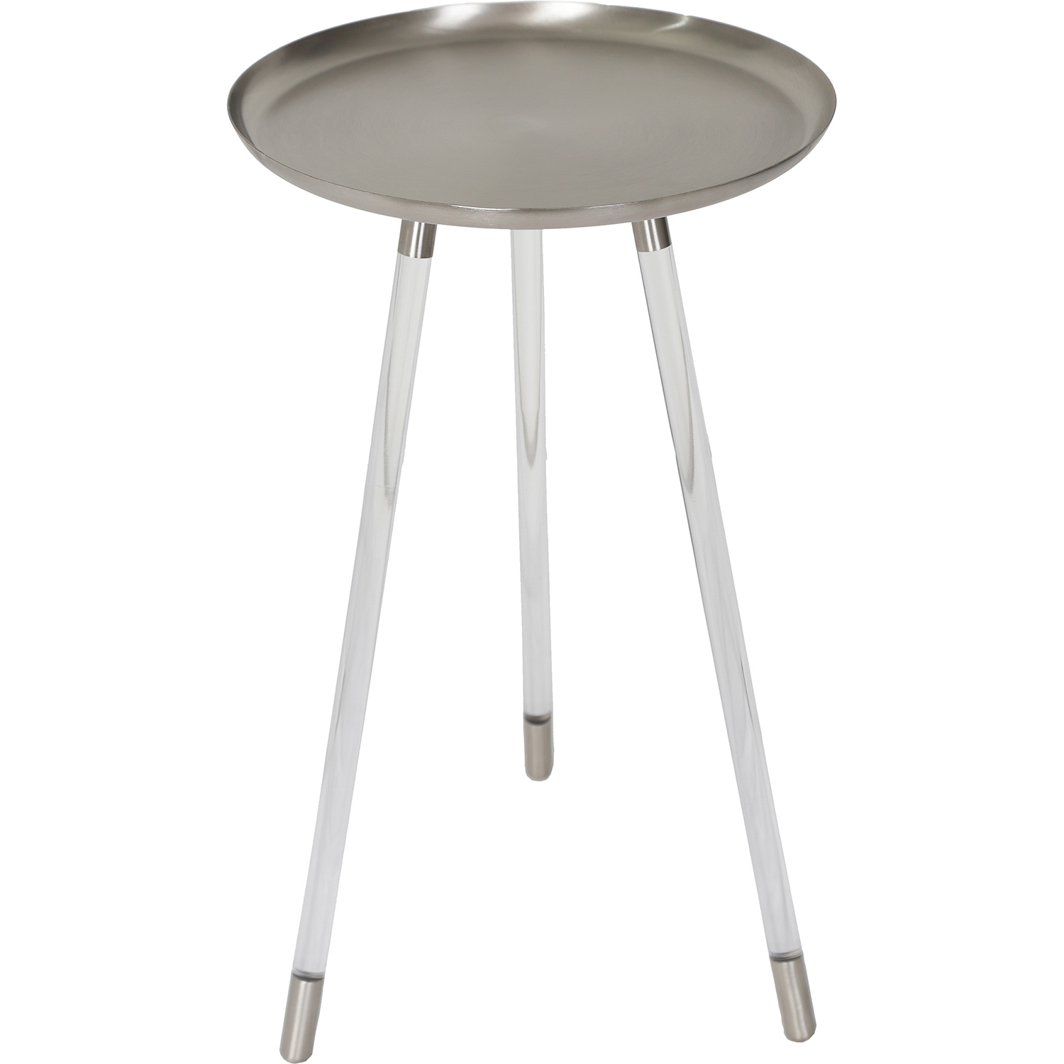 Ren-Wil Radbourne Accent Table - Pewter/Clear