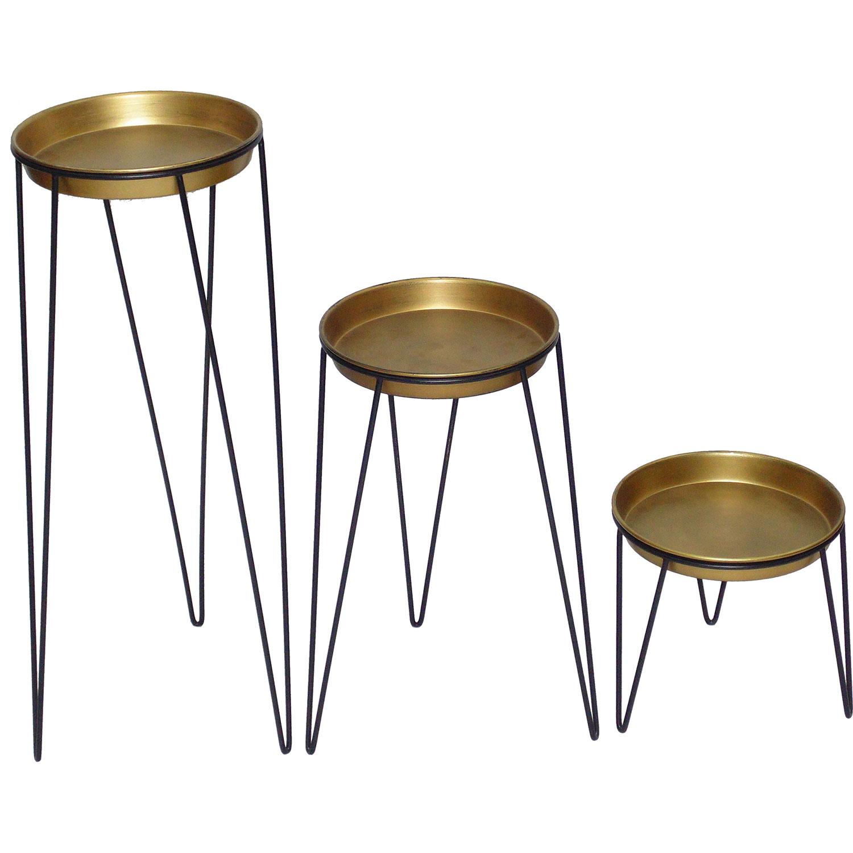 Ren-Wil Jude Vase - Black/Brass Antique