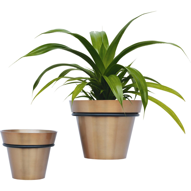Ren-Wil Roni Outdoor Vase - Brass TPR/Black Powder Coated