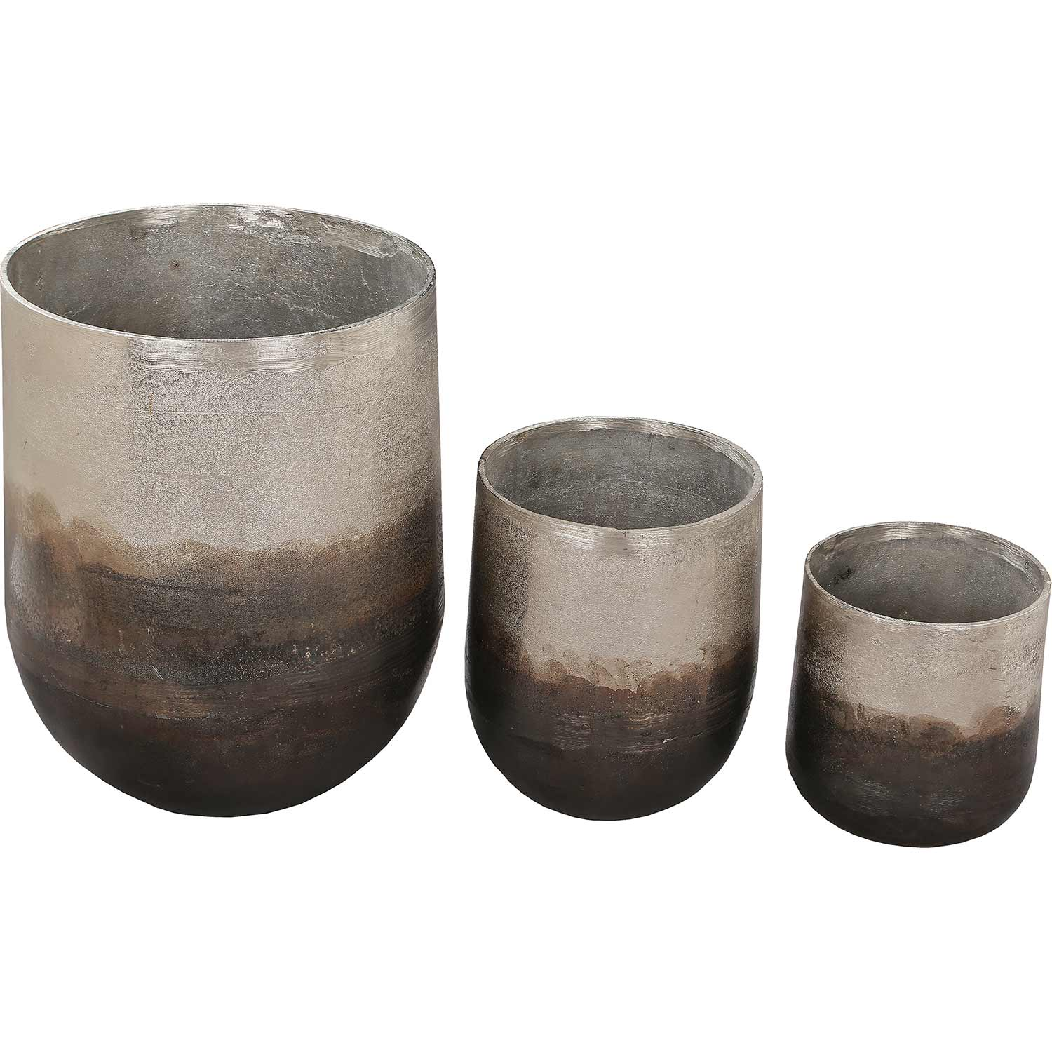 Ren-Wil Hadron Outdoor Vase - Neo Pewter Copper