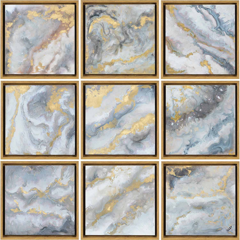 Ren-Wil Marcil Alternative Wall Decor - Yellow Wood Grain