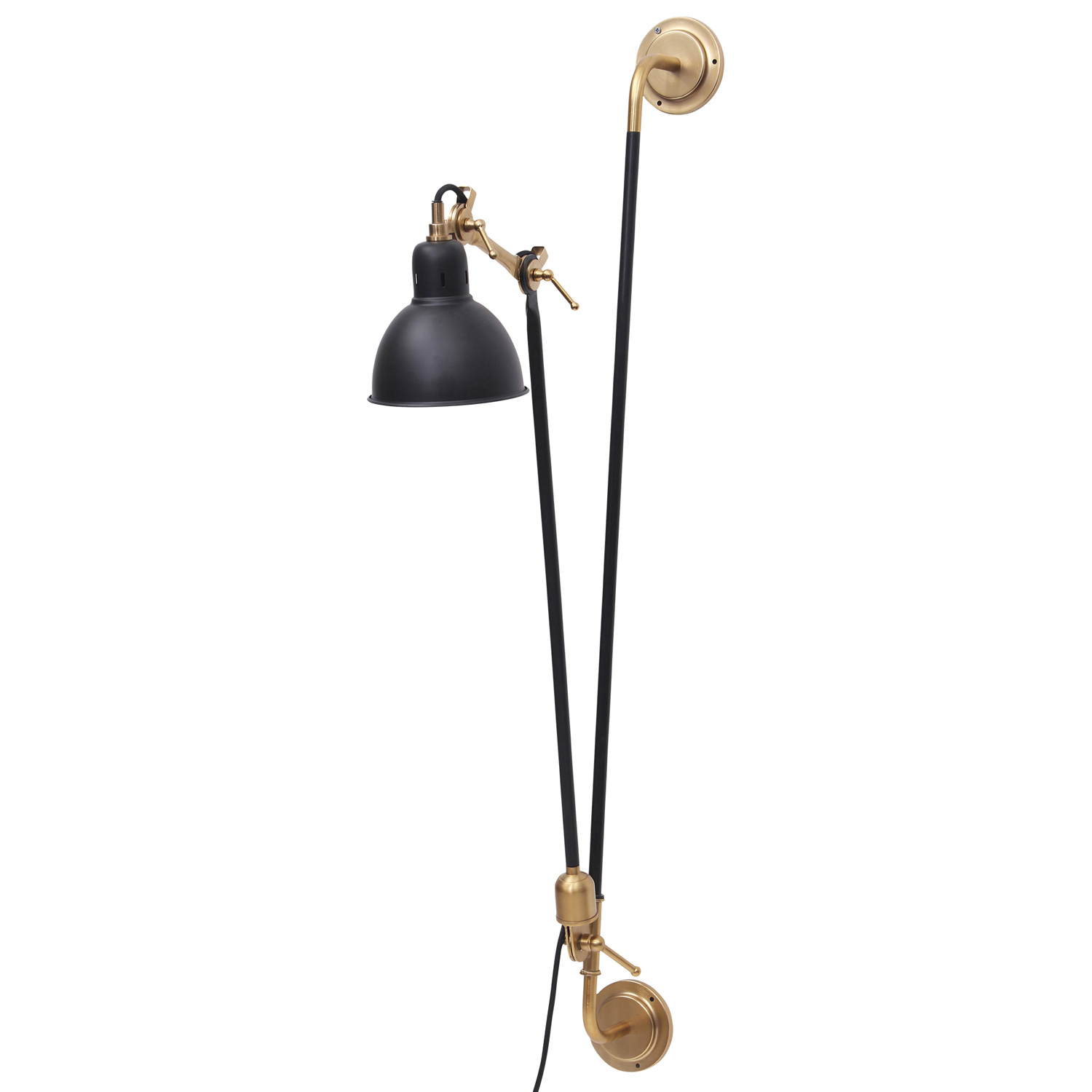 Ren-Wil Bristo Sconce Lighting - Gold/Black