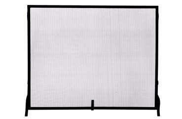 UniFlame Single Panel Black Wrought Iron Sparkguard - Medium-Uniflame