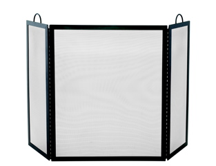 UniFlame 3 Fold Black Wrought Iron Arch Top Large Screen-Uniflame
