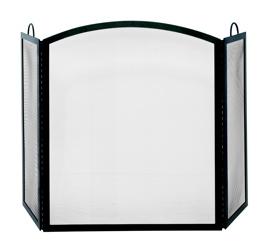 UniFlame 3 Fold Black Wrought Iron Medium Screen-Uniflame