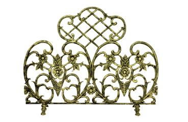 UniFlame Single Panel Antique Gold Cast Aluminum Screen-Uniflame