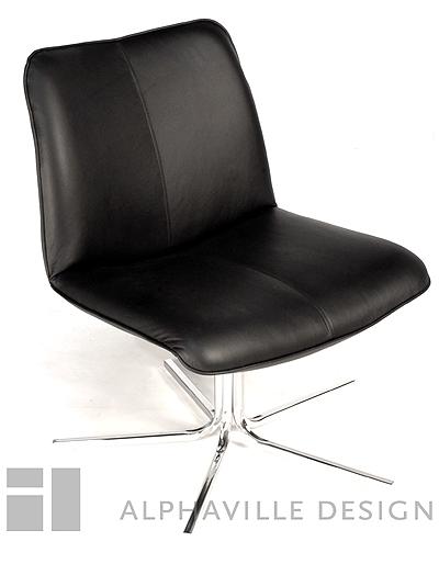 Alphaville Design Fellini Leather Swivel Chair-Alphaville