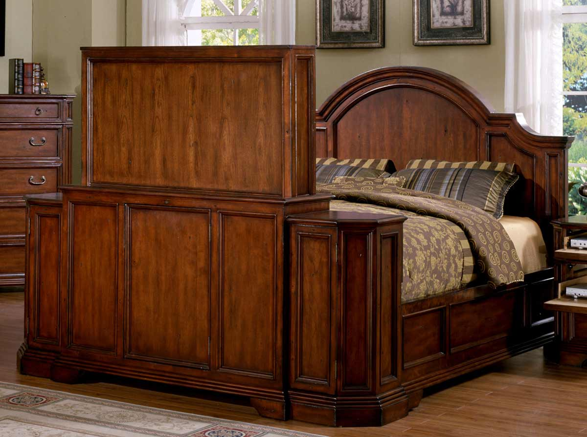 Signature Home Angela Bed With Footboard Lift Antique Cherry 272 001 2 At