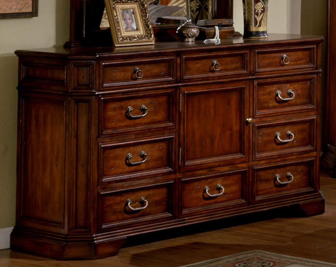 Signature Home Angela Triple Dresser - Antique Cherry