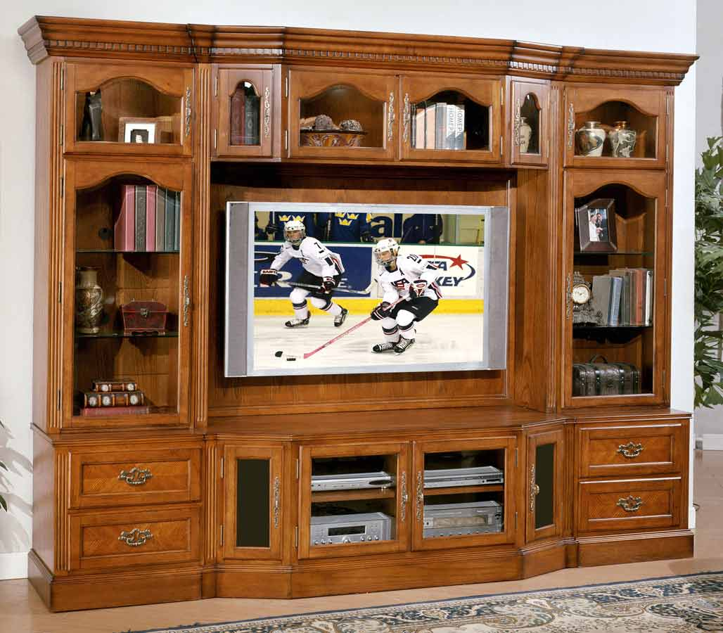 Signature Home Bloomington Ii Entertainment Center Burnished Oak 315 350 Ec