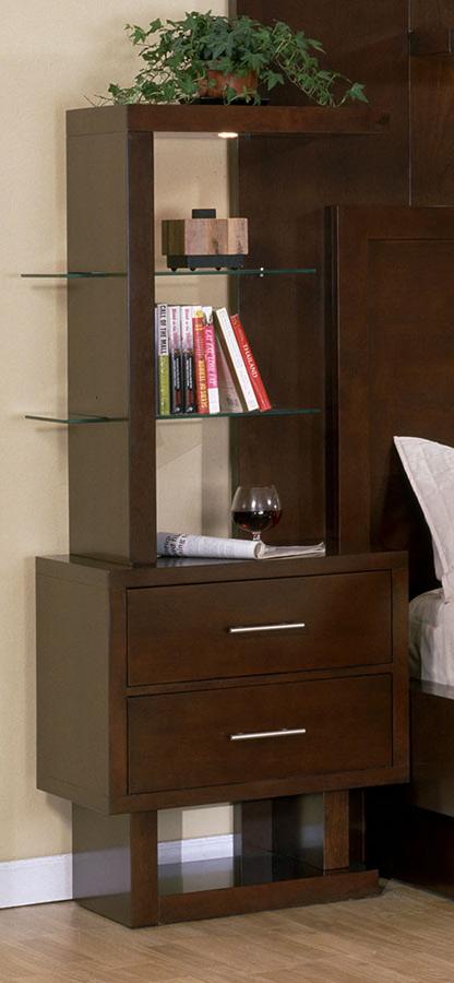 Signature Home Contempo Glass and Wood Shelves - Espresso