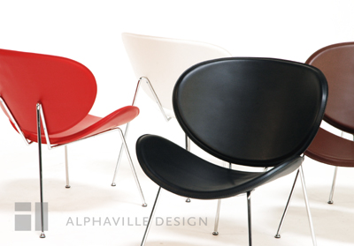 Alphaville Design Slice Leather Chair-Alphaville
