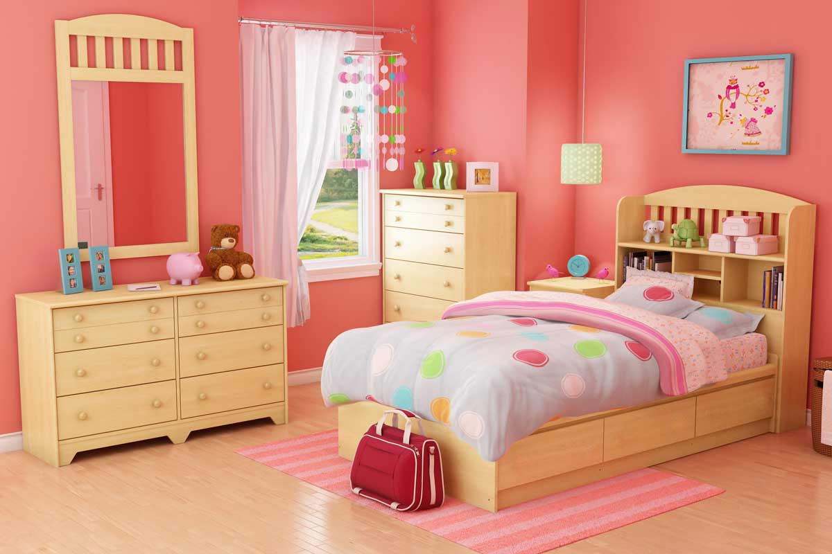 south shore popular natural maple kids bedroom collection 2713-set at homelement
