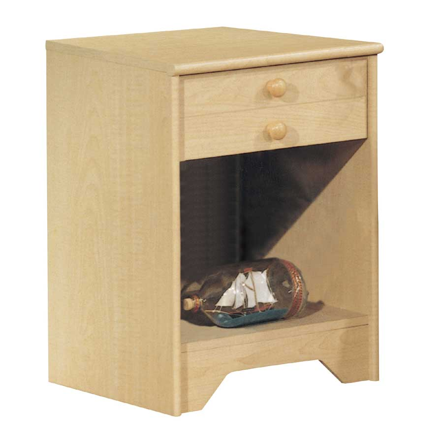 popular natural maple night stand