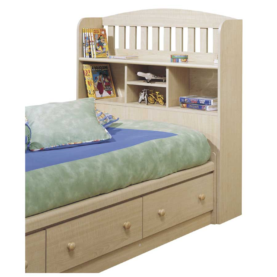 South Shore Popular Natural Maple Twin Bookcase Headboard