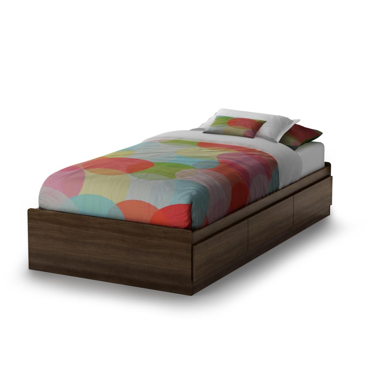 South Shore Popular Twin Mates Bed - Mocha