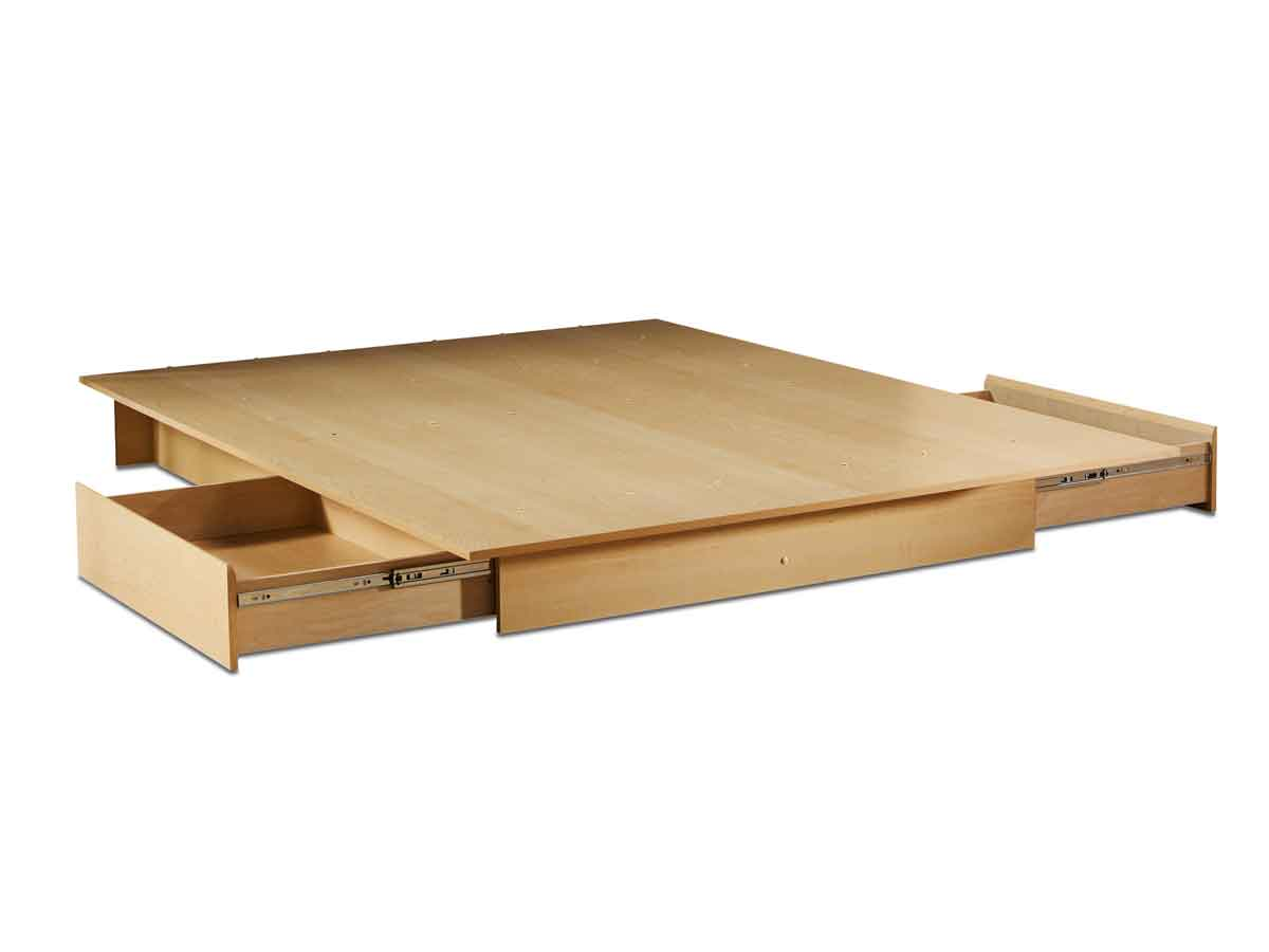 South Shore Step One Natural Maple Queen/Full Storage Platform Bed