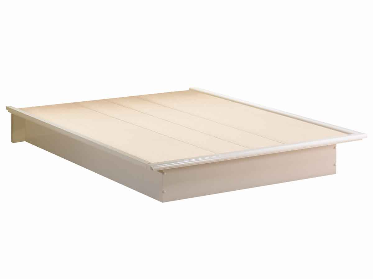South Shore Contemporary Pure White Platform Bed