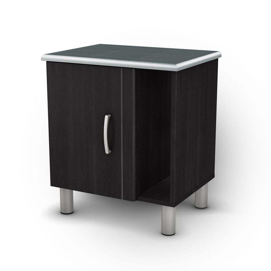 South Shore Cosmos Black Onyx And Charcoal Night Stand