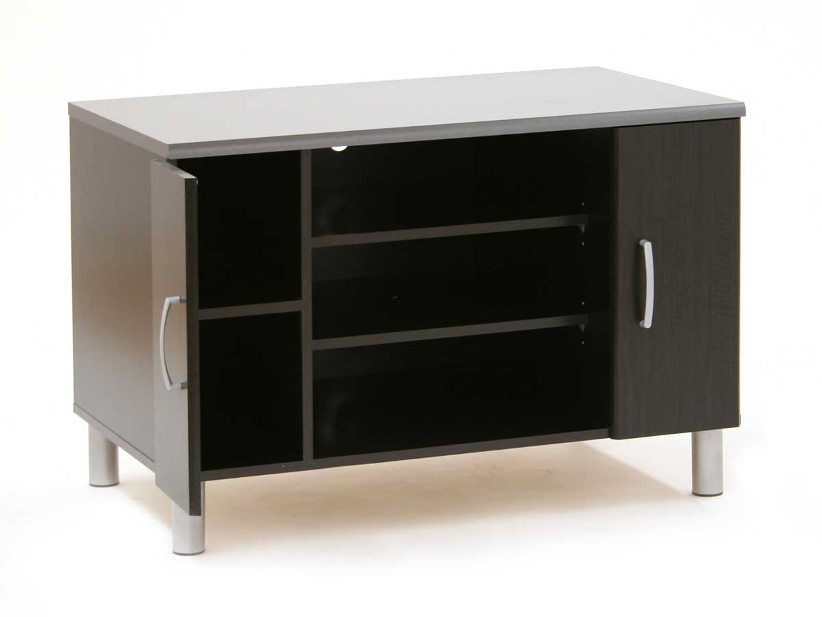 South Shore Cosmos Black Onyx and Charcoal TV Stand 3127605