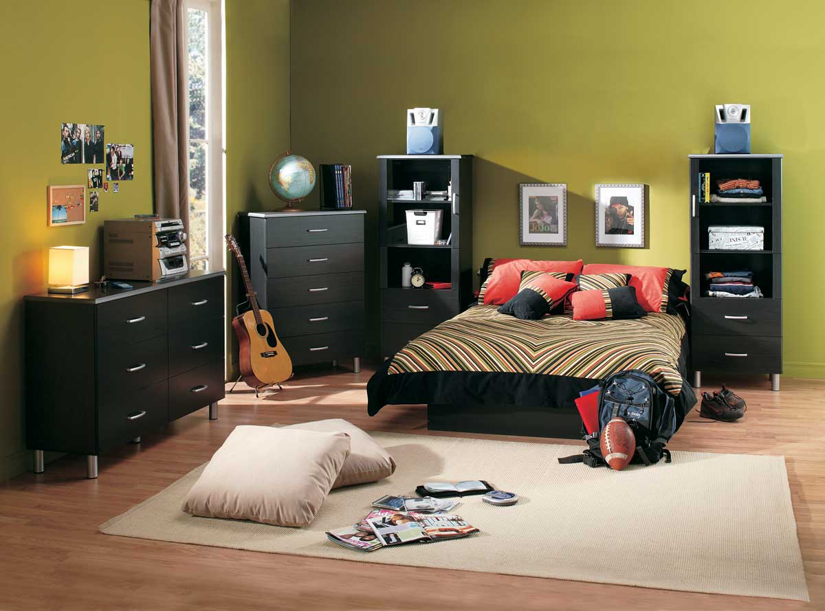 South Shore Cosmos Black Onyx and Charcoal 5 Drawer Chest