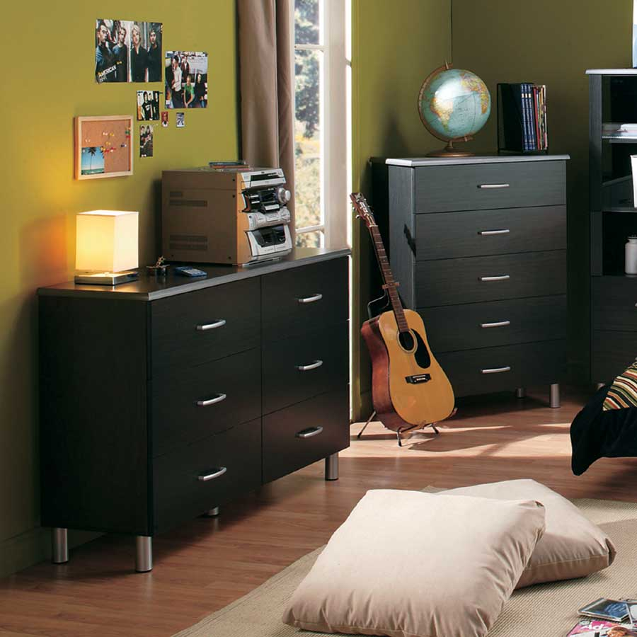 South Shore Cosmos Black Onyx and Charcoal Dresser